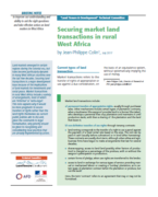 Securing market land transactions in rural West Africa