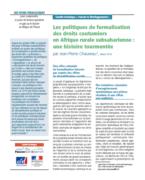 Les politiques de formalisation des droits coutumiers en Afrique rurale subsaharienne : une histoire tourmentée