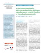 Investissements dans les agricultures familiales d'Afrique subsaharienne, sécurité foncière et formalisation des droits
