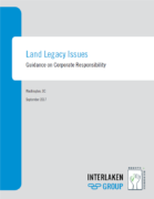 Land Legacy Issues : Guidance on Corporate Responsibility