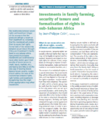 Investments in family farming, security of tenure and formalisation of rights in sub-Saharan Africa