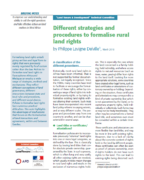 Different strategies and procedures to formalise rural land rights