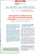 Note de synthèse n°26 : Hétérogénéité et différenciation des unités de production agricole européennes