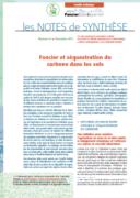 Note de synthèse n°27 : Foncier et séquestration du carbone dans les sols