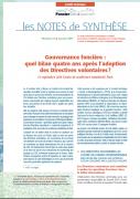 Note de synthèse n°22 : Gouvernance foncière : quel bilan quatre ans après l'adoption des Directives volontaires ?