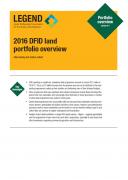 2016 DFID Land Portfolio Overview
