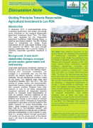 Guiding Principles Towards Responsible Agricultural Investment in Lao PDR