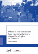 Pillars of the community : how trained volunteers defend land rights in Tanzania