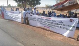 La Caravane de la convergence ouest africaine des luttes : Etape de Tambacounda