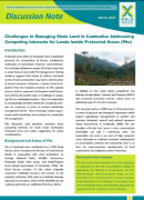 Challenges in Managing State Land in Cambodia : Adressing Competing Interests for Lands inside Protected Areas