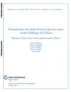 Formalisation des droits fonciers dans les zones rurales d'Afrique de l'Ouest Résultats initiaux d'une étude expérimentale au Bénin