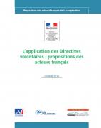L'application des Directives volontaires : propositions des acteurs français