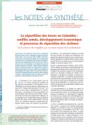 Note de synthèse n°4 : La répartition des terres en Colombie – Conflits armés, développement économique  et processus de réparation des victimes