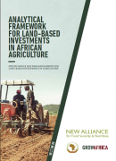 Analytical Framework for Responsible Land-Based Agricultural Investments, New Alliance for Food Security and Nutrition