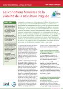 Les conditions foncières de la viabilité de la riziculture irriguée