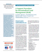 A Support Procedure for Decentralised Land Management (DLM)