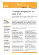 Chinese agriculture goes global: food security for all?