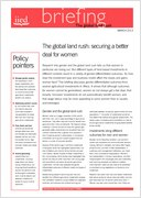 The global land rush: securing a better deal for women