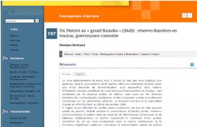 Du District au «grand Bamako» (Mali) : réserves foncières en tension, gouvernance contestée
