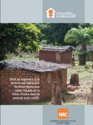 Droit au logement, à la terre et aux biens des femmes déplacées dans l'Ouest de la Côte d'Ivoire dans la période post conflit