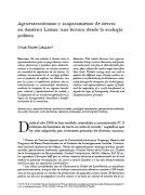 Agroextractivismo y acaparamiento de tierras en América Latina: una lectura desde la ecología política