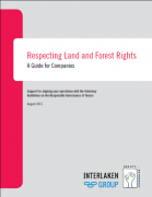 Respecting land and forest rights :  a guide for companies