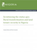 Scrutinizing the status quo: Rural transformation and land tenure security in Nigeria