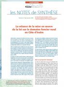 Note de synthèse n°21 : La relance de la mise en oeuvre de la loi sur le domaine foncier rural en Côte d'Ivoire