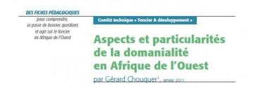 Aspects et particularités de la domanialité en Afrique de l'Ouest
