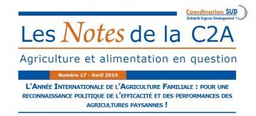 Pour une reconnaissance politique de l'efficacité et des performances des agricultures paysannes !