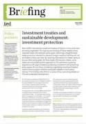 Investment treaties and sustainable development: investment protection