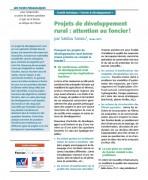 Projets de développement rural : attention au foncier !