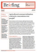 Agricultural commercialisation contracts: concessions over people?