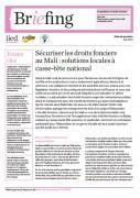 Sécuriser les droits fonciers au Mali : solutions locales à casse-tête national