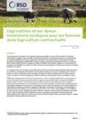 Note de synthèse : L'agricultrice et son époux : innovations juridiques pour les femmes dans l'agriculture contractuelle