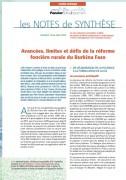 Avancées, limites et défis de la réforme foncière rurale du Burkina Faso