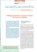 Note de synthèse n°29 : Politiques foncières et mise en valeur des terres en Algérie