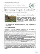 Qui est en charge de la gestion du foncier rural au Niger?