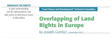 Overlapping of Land Rights in Europe