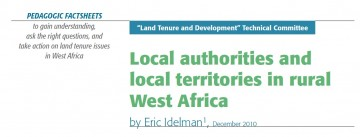Local authorities and local territories in rural West Africa