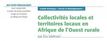 Collectivités locales et territoires locaux en Afrique de l'Ouest rurale