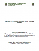 Land policy and land markets on the agricultural frontier in arid Algeria