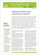 Reshaping contracts for quality natural resource investments