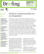 Briefing note de l'IIED : Résilience institutionnelle face au changement
