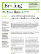Cameroon : Land reform : a coherent vision from civil society