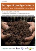 Colloque : Partager & protéger la terre, plaidoyer pour une nouvelle Loi foncière