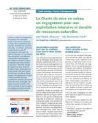 La Charte de mise en valeur, un engagement pour une exploitation intensive et durable des ressources naturelles