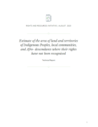 ERI report on land and territories of Indigenous Peoples, local communities, and Afro-descendants