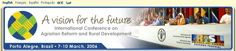 International Conference on Agrarian Reform and Rural Development
