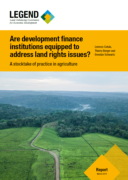 Are development finance institutions equipped to address land rights issues?